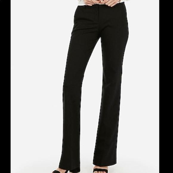 EXPRESS Design Studio Cropped Editor Wide Leg pants Black Size 4 Brand New!